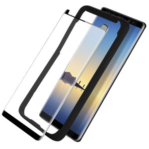 Keep your Samsung Galaxy Note 8's screen in pristine condition with these Olixar Tempered Glass screen protectors, designed for full coverage of your phone's screen. This design leaves space for a case and comes with an install tool for perfect alignment.