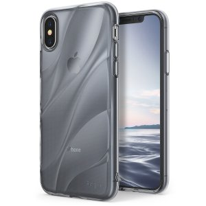 Protect the back and sides of your iPhone X with this incredibly durable and smoke black backed Flow case from Ringke. Featuring an abstract, artistic curve design to enhance the aesthetic of your device.