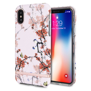The Freedom series from Richmond & Finch for iPhone X combines hard-wearing, durable protection with high fashion detailing and elegant, attractive design. Eye-catching, unique and protective, this cherry blush case is your iPhone's perfect companion.