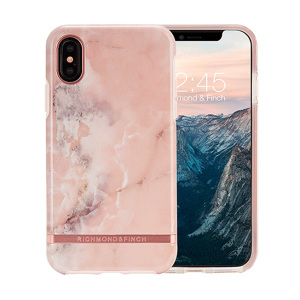 The Freedom series from Richmond & Finch for iPhone X combines hard-wearing, durable protection with high fashion detailing and elegant, attractive design. Eye-catching, unique and protective, this pink marble case is your iPhone's perfect companion.