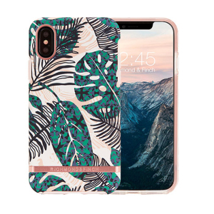 The Freedom series from Richmond & Finch for iPhone X combines hard-wearing, durable protection with high fashion detailing and elegant, attractive design. Eye-catching, unique and protective, this tropical leaves case is your iPhone's perfect companion.
