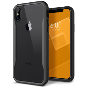 Protect your iPhone X with this stunning tough dual-layered armoured case in black. Made with robust triple-layered yet slim material, this PC body with a sleek TPU frame features an attractive two-tone finish.