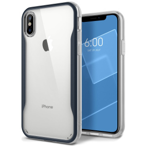 Protect your iPhone X with this stunning tough dual-layered armoured case in deep blue. Made with robust triple-layered yet slim material, this PC body with a sleek TPU frame features an attractive two-tone finish.