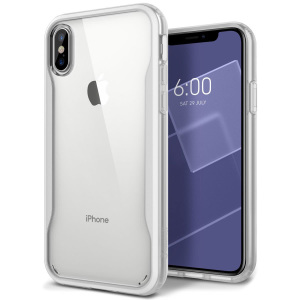 Protect your iPhone X with this stunning tough dual-layered armoured case in white. Made with robust triple-layered yet slim material, this PC body with a sleek TPU frame features an attractive two-tone finish.