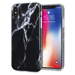 Enhance and protect your iPhone X with this glamorous black case from LoveCases. Your iPhone fits perfectly into the secure, durable frame, while a classical marble-effect design adds a touch of historic prestige to your already-gorgeous device.