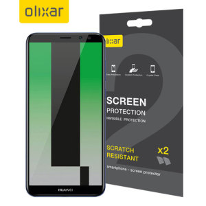 Keep your Huawei Mate 10 Lite screen in pristine condition with this Olixar scratch-resistant screen protector 2-in-1 pack. Ultra responsive and easy to apply, these screen protectors are the ideal way to keep your display looking brand new.