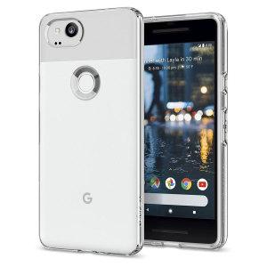 Duradera y muy ligera, la funda Spigen Liquid Crystal Glitter para el Google Pixel 2 ofrece una protección premium en un formato muy delgado.