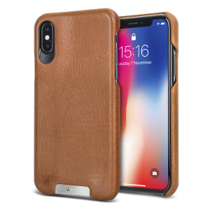 Treat your iPhone X to exquisite handmade craftsmanship and the highest quality materials. Featuring genuine Floater and Caterina leather, the Vaja Grip premium leather shell case in tan is something very special indeed.