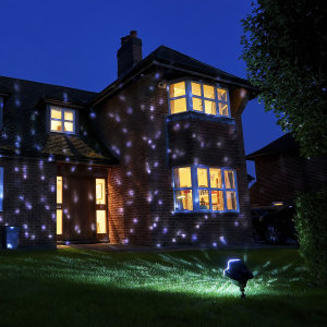 Don't just dream of a white christmas, have one on demand with this stunning and decorative 4 LED Snowfall projector light. Suitable for outdoor use, you can easily set it up and control from the comfort of your sofa. No need for any other decorations.