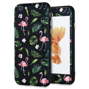 Enhance and protect your iPhone 6S / 6 with a taste of paradise with this stunning case from LoveCases. A durable frame offers a perfect fit, whilst Flamingo Fall design adds a touch of on-trend beauty to your iPhone. Comes with a free screen protector.