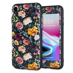 Enhance and protect your iPhone 8 / 7 with this charming, chic case from LoveCases. Your iPhone fits perfectly into the secure, durable frame, while a classical black floral design adds a touch of rustic on-trend beauty to your already-gorgeous device.