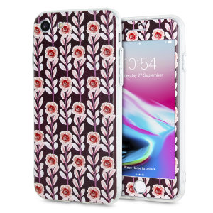 Enhance and protect your iPhone 8 / 7 with this charming, chic case from LoveCases. Your iPhone fits perfectly into the secure, durable frame, while a classical maroon floral design adds a touch of rustic on-trend beauty to your already-gorgeous device.