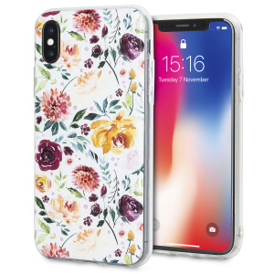 Verschönern und schützen Sie Ihr iPhone X mit dieser charmant schickem Hülle von LoveCases. Ihr iPhone passt perfekt in den sicheren, robusten Rahmen, während ein klassisches kastanienbraunes Blumenkunst-Design ihrem bereits großartigen Gerät einen Hauch von rustikaler Schönheit verleiht.