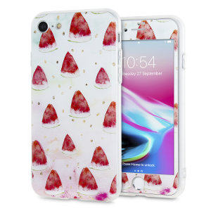 Enhance and protect your iPhone 7 / 8 with a taste of paradise with this stunning case from LoveCases. A durable frame offers a perfect fit, whilst a Watermelon design adds a touch of on-trend beauty to your iPhone. Comes with a free screen protector.