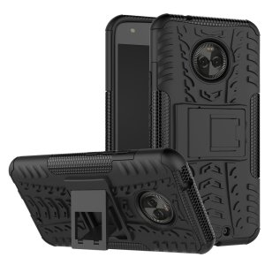 Protect your Motorola Moto X4 from bumps and scrapes with this black Olixar ArmourDillo case. Comprised of an inner TPU case and an outer impact-resistant exoskeleton, the ArmourDillo provides robust protection and supreme styling.