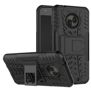 Protégez votre Motorola Moto X4 des chocs et des éraflures grâce à cette coque Olixar ArmourDillo en coloris noir. Cette coque est composée d'un boîtier interne en TPU et d'un exosquelette externe résistant aux impacts. Elle comprend par ailleurs un support de visualisation intégré.