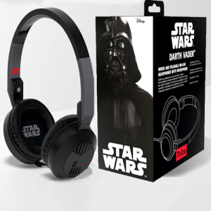 Sleek, stylish and sporting the likeness of the galaxy's most feared Sith lord, these on-ear headphones supercharge your favourite music with the power of the Force. Featuring an in-line remote for important Imperial communications and playback control.