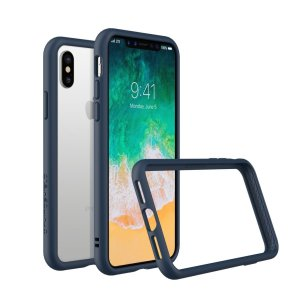 Shield your iPhone X from drops, scratches, scrapes and other damage with the CrashGuard bumper case in blue from RhinoShield. This case offers superb protection while adding virtually no extra bulk thanks to a shock-dispersing hexagonal structure.