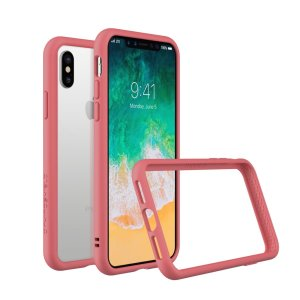 Shield your iPhone X from drops, scratches, scrapes and other damage with the CrashGuard bumper case in pink from RhinoShield. This case offers superb protection while adding virtually no extra bulk thanks to a shock-dispersing hexagonal structure.