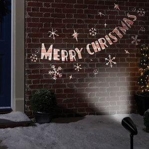Wish everybody in your street a Merry Christmas with this stunning and decorative LED projector light. Suitable for outdoor use, you can easily set it up within 5m of a power socket and project a charming message across the front of your house.