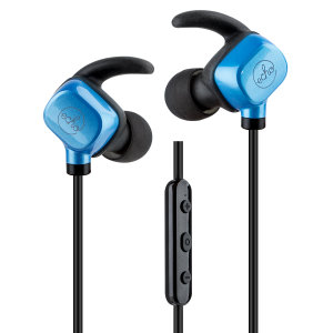 Listen to music and take calls on the go with the EchoVibes Bluetooth headphones in black and blue from Echo. Lightweight, long-lasting and boasting great EQ response, these wireless headphones will be your constant companion.