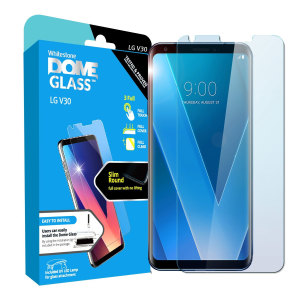 The Whitestone Dome Glass screen protector for LG V30 uses a UV lamp with a proprietary UV adhesive installation to ensure a total and perfect fit for your device. Featuring 9H hardness for absolute protection, as well as 100% touch sensitivity.