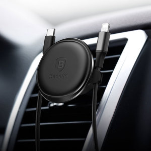 Mount your smartphone easily on your car's vents via the power of magnets with this magnetic air vent mount. This universal magnetic car mount even works with many cases, allowing you to keep your phone protected while you drive.