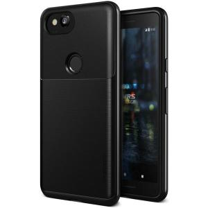 Protect your Google Pixel 2 with this precisely designed high pro shield series case in Metallic Black from VRS Design. Made with tough dual-layered yet slim material, this hardshell body with a sleek bumper features an attractive metallic black finish.