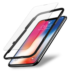 Kit protection d'écran iPhone X Olixar EasyFit en verre trempé