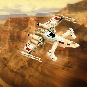 Lock S-Foils in attack position because the greatest Star Wars adventure yet is your own to control. This awesome X-Wing drone can perform incredible aerobatics, move at 30mph and dogfight other Star Wars drones too in app-supported multiplayer battles.
