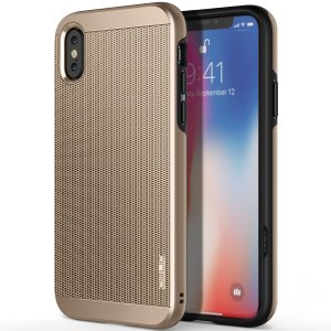 Protect your iPhone X with this ultra slim case in Champagne Gold, which protects as well as providing a stunning full body protection in an attractive dual design.