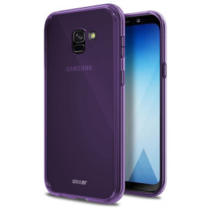 Custom moulded for the Samsung Galaxy A8 2018. This purple Olixar FlexiShield case provides a slim fitting stylish design and durable protection against damage, keeping your device looking great at all times.