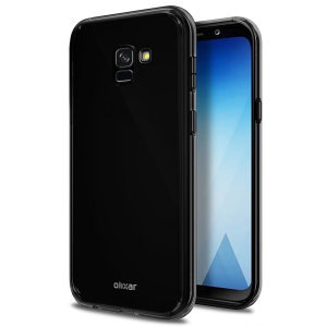 Custom moulded for the Samsung Galaxy A8 Plus 2018, this solid black FlexiShield case by Olixar provides slim fitting and durable protection against damage.