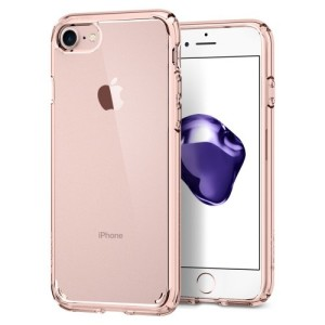 Protect your iPhone 8 / 7 with the unique Ultra Hybrid rose crystal bumper from Spigen. Complete with a clear back and air cushion technology to show of and protect your iPhone's sleek modern design.