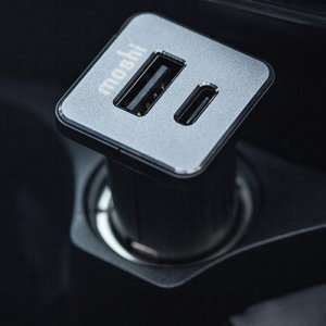 Take mobile charging to a new level with this dual port USB + USB-C Car Charger in Black. With two ports on board, this charger offers great compatibility, and is able to provide an impressive up to 30W of power via USB-C, and 12W via standard USB-A port.