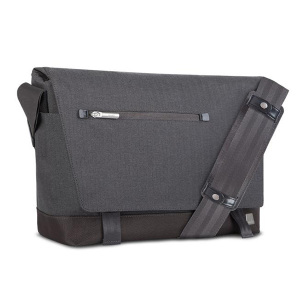 Crafted with ergonomics in mind, Moshi's Aerio messenger bag in herringbone grey utilizes innovative materials and modern design to exude a stress-free attitude with a distinctive, stylish facade.