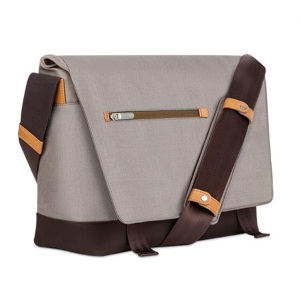 Crafted with ergonomics in mind, Moshi's Aerio messenger bag in titanium grey utilizes innovative materials and modern design to exude a stress-free attitude with a distinctive, stylish facade.