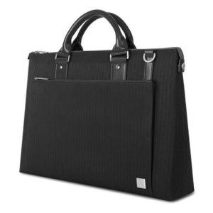 Crafted with ergonomics in mind, Moshi's Urbana briefcase bag in slate utilizes innovative materials and modern design to exude a stress-free attitude with a distinctive, stylish facade.