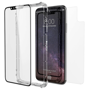 Cet accessoire comprend une protection d'écran en verre trempé, un bumper ainsi qu'une plaque arrière. Votre iPhone X sera ainsi protégé au maximum grâce à cette protection fabriquée avec des éléments d'excellente qualité. Un accessoire soigné pour un smartphone luxueux.
