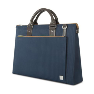 Crafted with ergonomics in mind, Moshi's Urbana briefcase bag in bahama blue utilizes innovative materials and modern design to exude a stress-free attitude with a distinctive, stylish facade.