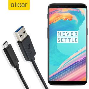 Se till att din OnePlus 5T alltid fulladdad och synkroniserad med denna kompatibel USB 3.1 Type - C till USB 3.0 -kabel. Du kan använda den här kabeln med en USB-väggladdare eller via din stationära eller bärbara dator.