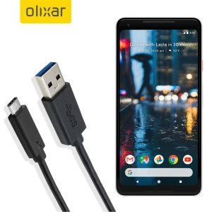 Mantenga su Google Pixel 2 XL cargado y sincronizado gracias a este cable USB-C de Olixar. Ideal para cargar con cualquier cargador de pared o de coche, o para sincronizar con un ordenador o portátil.