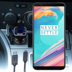 Keep your OnePlus 5T fully charged on the road with this compatible Olixar high power dual USB 3.1A Car Charger with an included high quality USB to USB-C charging cable.