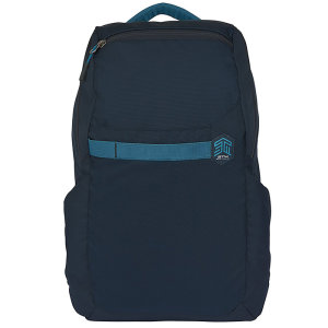 "The STM Saga 15"" backpack in dark navy combines 20L of capacity, water-resistant rugged material and multi-compartments to protect your gear whilst designed to maximize organization."