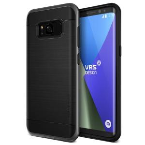 Protect your Samsung Galaxy S8 with this precisely designed high pro shield series case in Dark Silver from VRS Design. Made with tough dual-layered yet slim material, this hardshell body with a sleek bumper features an attractive two-tone finish.