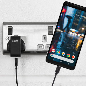 Charge your Google Pixel 2 XL and any other USB device quickly and conveniently with this compatible 2.5A high power USB-C UK charging kit. Featuring a UK wall adapter and USB-C cable.