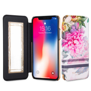 Ever wanted to check how you're looking on the move? With this Ted Baker June Mirror Folio case for iPhone X, you can do just that thanks to a concealed mirror on the inside of the case's flip cover. This slimline case also offers excellent protection.