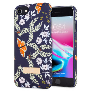Form-fitting and bulk-free, this blue-dominating Rakisha case for iPhone 8 / 7 from Ted Baker sports an ethereal, otherworldly floral aesthetic while also offering superlative protection for your device from scratches, scrapes and other surface damage.