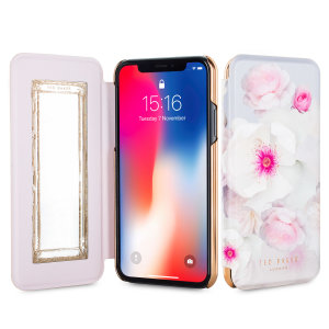 Ever wanted to check how you're looking on the move? With the Ted Baker Nalibise Mirror Folio case for iPhone X, you can do just that thanks to a concealed mirror on the inside of the case's flip cover. This slimline case also offers excellent protection.