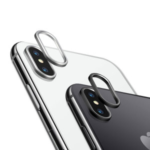 Protect your vulnerable iPhone X camera with these Olixar black and silver metal camera lens protector rings. They fit easily and perfectly on to your camera to provide extra protection in the event of drops and impacts without affecting your photography.
